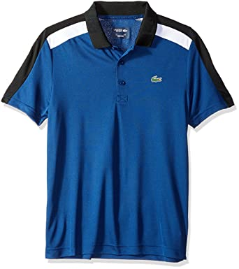 66222956a1362b Lacoste Men s Short Sleeve Tech Capsule Ultra Dry Contrast Polo at Amazon  Men s Clothing store