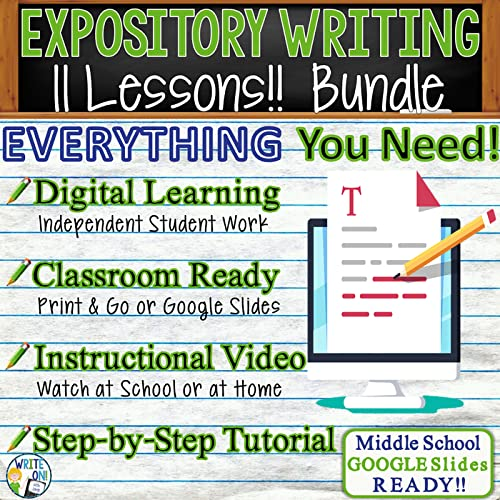 Teaching Expository Writing Can Be Hard, But This BUNDLE Of 11 Lessons  Guides Students Through A Step-by-step Process Of Writing A 5-paragraph (or  More) Essay. These Lessons Can Be Used In Class Or Assigned For Distance  Learning As Independent Student