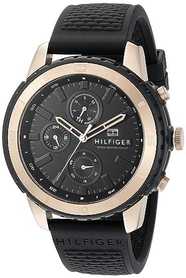 Tommy Hilfiger Hombre Reloj de Pulsera analógico Cuarzo Silicona 1791195: Amazon.es: Relojes
