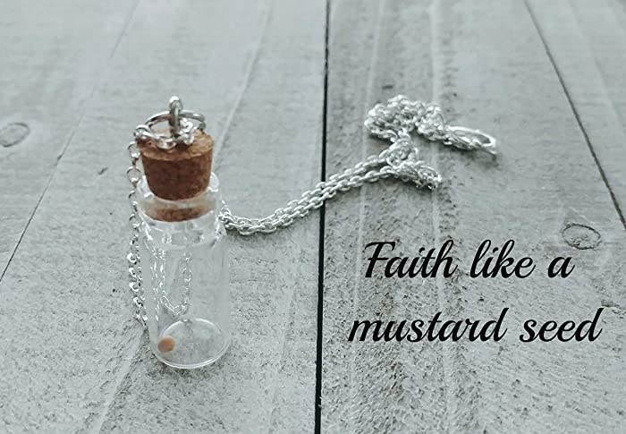 Faith Like a Mustard Seed Necklace - Christian Jewelry - Faith Necklace -  Perseverance