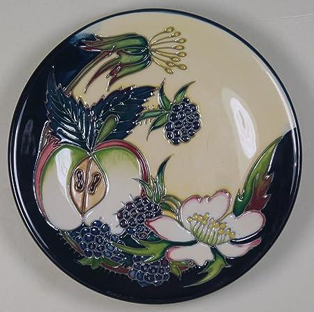 Moorcroft Pottery Apple & Blackberry Pin Tray Dish Coaster 780/4