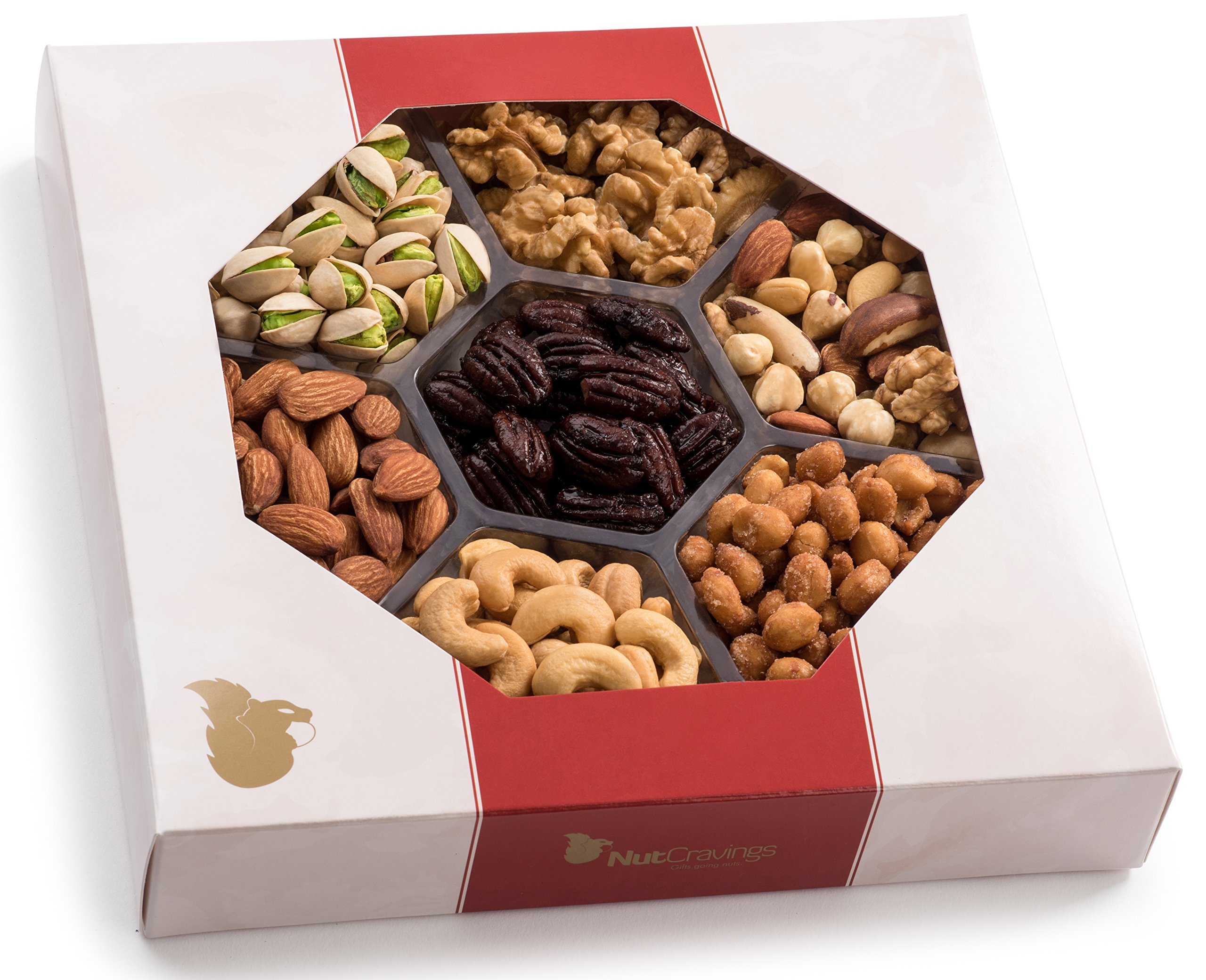 Amazon.com : Holiday Nuts Gift Basket, Extra-Large 7-Sectional ...