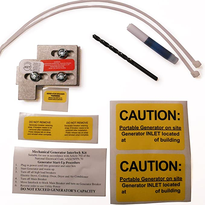 SD-100A Square D Generator Interlock Kit QO & Homeline Indoor or outdoor 100 or 125 amp panels
