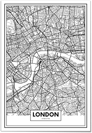 Cartina Londra Con Monumenti.Panorama Poster Stampe Da Parete Mappa Di Londra 21x30 Cm Stampato Su Carta 250gr Alta Qualita Quadri Moderni Soggiorno Stampe Da Parete Moderne Per Incorniciare Decorazione Parete Amazon It