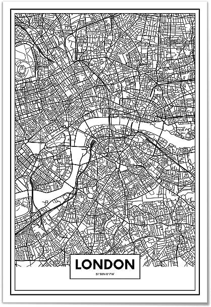 Cartina Stradale Londra.Panorama Poster Stampe Da Parete Mappa Di Londra 21x30 Cm Stampato Su Carta 250gr Alta Qualita Quadri Moderni Soggiorno Stampe Da Parete Moderne Per Incorniciare Decorazione Parete Amazon It