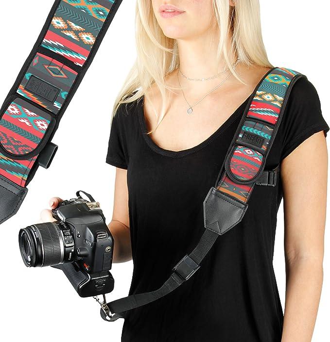 Cámara SLR Correa de cuello de neopreno para SLR D binocular Nikon Canon H /_ PF