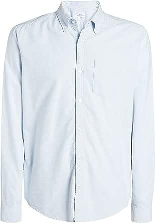 next Hombre Camisa Oxford De Rayas Y Manga Larga Azul XXXXL ...