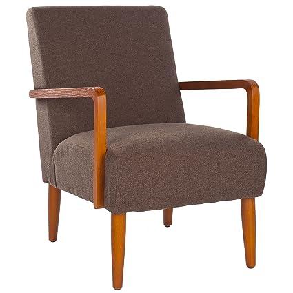 Safavieh Mercer Collection Alicia Linen Retro Club Chair Brown