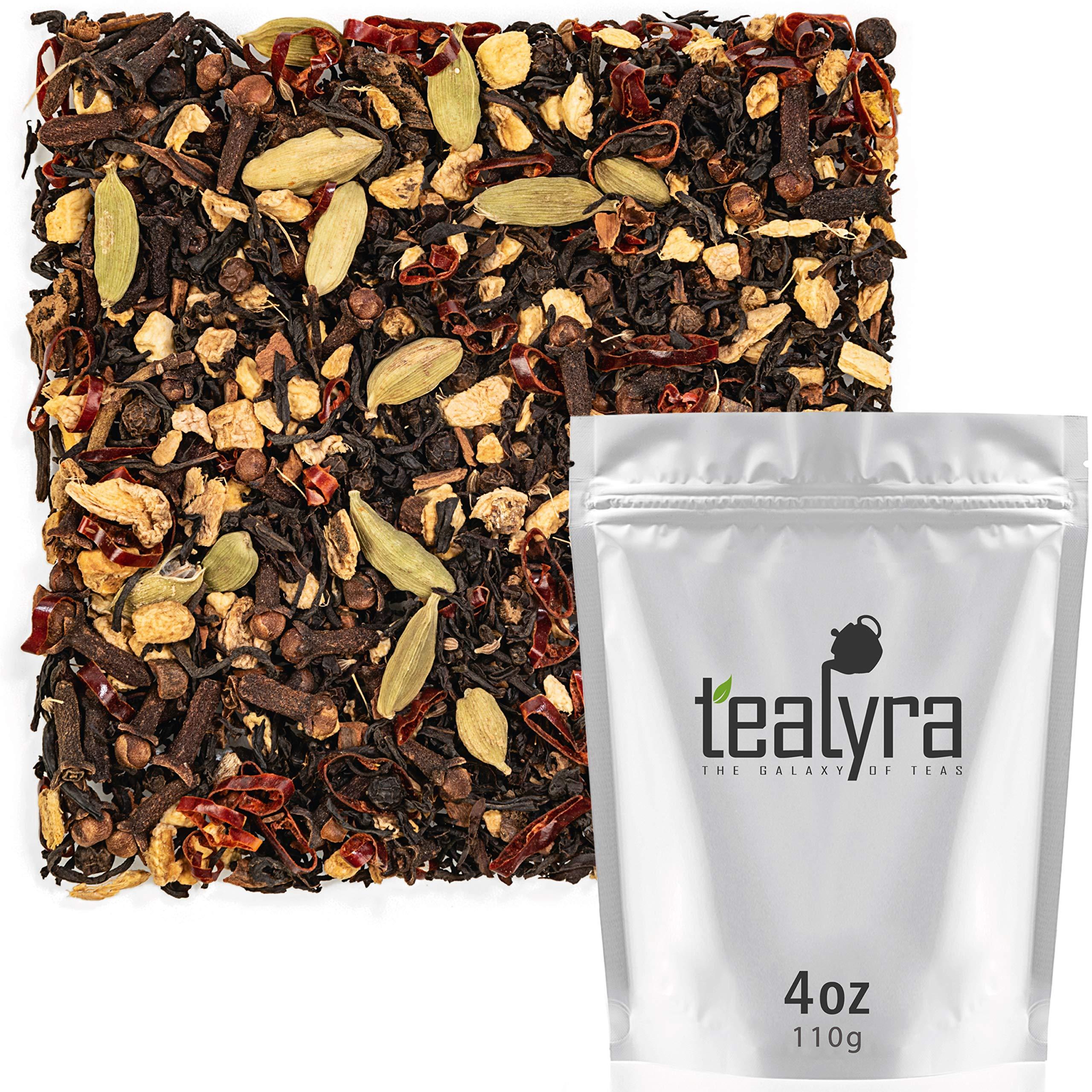 Tealyra - Spicy Chili Pepper Chai - Black Tea - Ginger - Cardamom - Cinnamon - Vanilla - Warm Spicy Loose Leaf Tea - 112g (4-ounce)