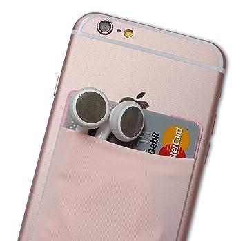 Atkolé Wallet - Funda-Cartera Adhesiva (con pegamento) para Celular con cinta adhesiva (Rosado) de 3M. Un accesorio indispensable para celulares, un ...