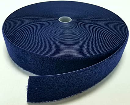 3ms of 20mm dark blue Hook and Loop tape Sew On Stitch Fastening Strips tape