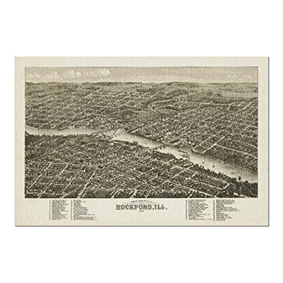 Rockford, Illinois - Panoramic Map (Premium 1000 Piece Jigsaw Puzzle for Adults, 20x30, Made in USA!): Toys & Games