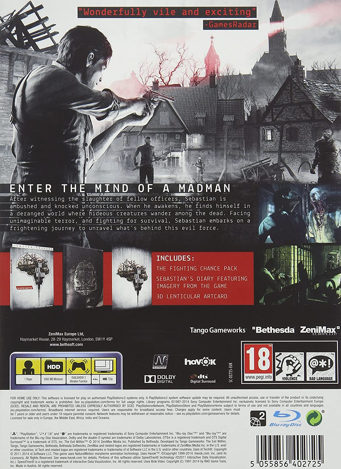 The Evil Within Limited Edition: Amazon.es: Videojuegos