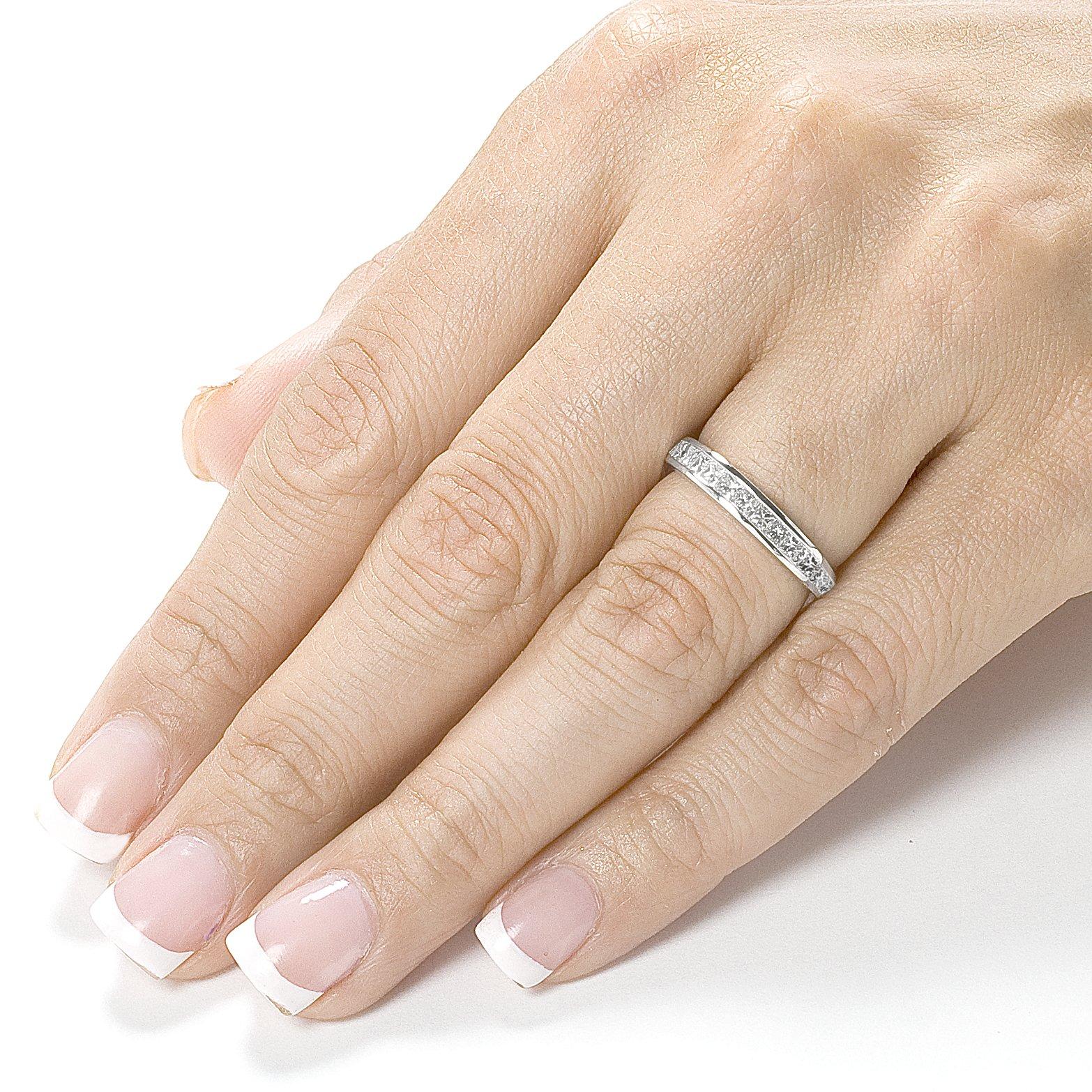 Diamond Eternity Wedding Band 2 carat (ctw) in 14K Gold, Size 7, Rose Gold