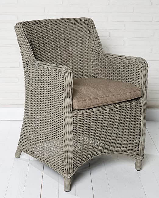 La alta calidad de ratán poli silla de jardín silla de mimbre silla de jardín sillas de jardín silla de muebles de salón silla de relajación positiosstuhl sillas de jardín balcón: Amazon.es: