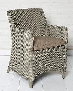 La alta calidad de ratán poli silla de jardín silla de ...