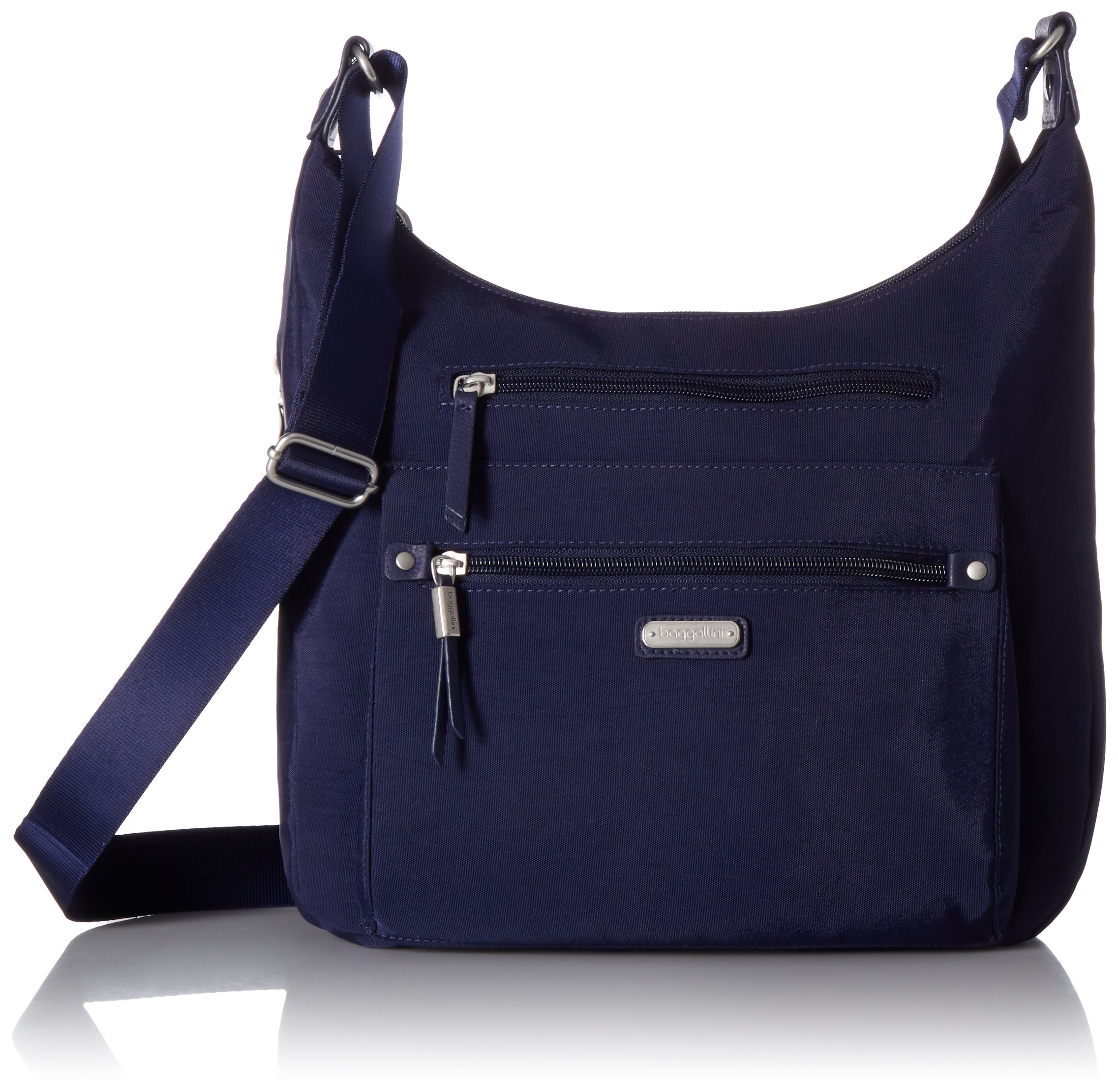 Baggallini Day Trip Hobo with RFID Phone Wristlet, navy
