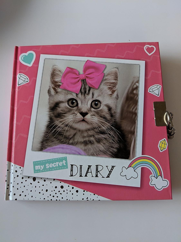 Hard Cover Cat Kitten Other Girls Secret Diary With Padlock