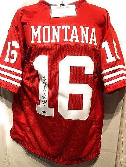 reputable site a92d5 b337c Joe Montana San Fransico 49ers Signed Autograph Custom ...