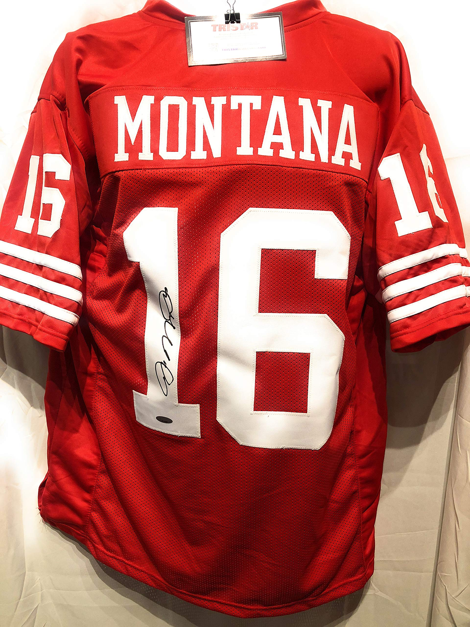 Joe Montana San Fransico 49ers Signed Autograph Custom Jersey Tristar Authentic Certified