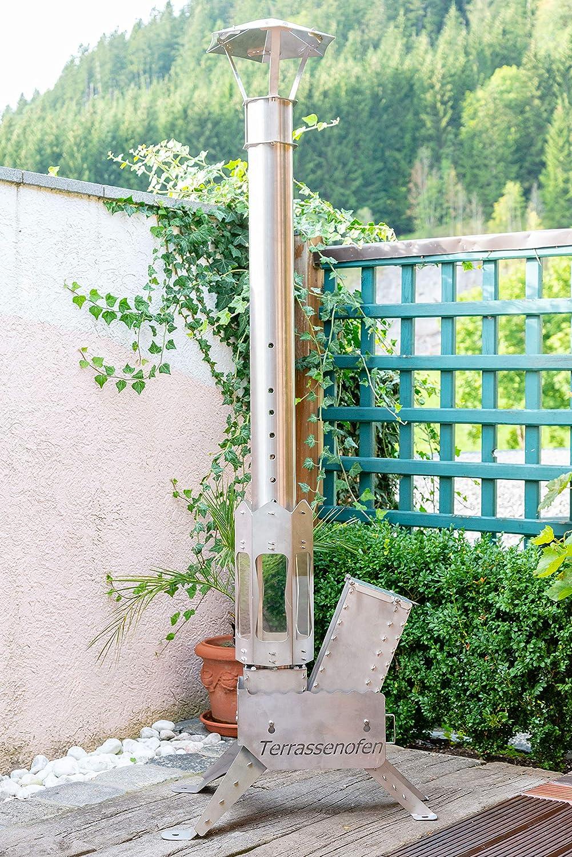 Terrassenofen D100 Mit Feuerlaterne Terrassenofen Gartenofen