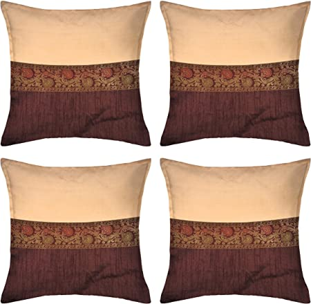 Boho Turkish Retro Hippy Indian Art Embroidered Floral Pillow Cushion Cover Case