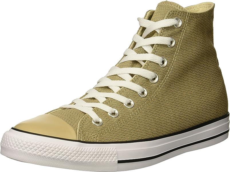 Converse Men s Chuck Taylor All Star Basketweave High Top Sneaker Vintage  Khaki Black White d972539a7