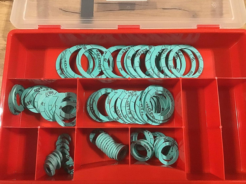 Juego de juntas planas para sanitarios KLINGERSIL C-4400 41 piezas 3//8-1