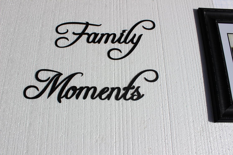 Amazon family moments words fancy script font metal wall art