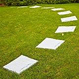 Parkland®, lastre di pavimentazione in plastica; piastrelle effetto pietra per sentiero, ideali per il giardino