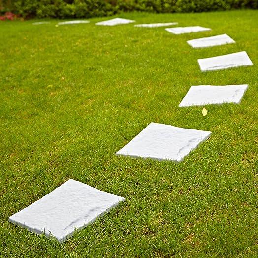 Parkland® Plastic Patio Paving Slabs Stepping Stones Imitation Garden Tile  Stone Effect Feature Path Lawn