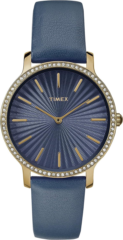 Timex レディースメトロポリタンスターライト 40mmの腕時計 One Size Navy/Gold-Tone