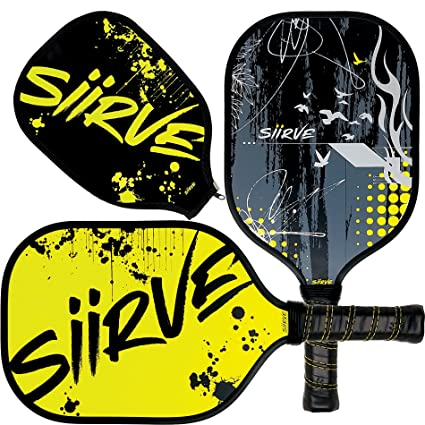 Pickleball paleta con funda para juego de | incluye raqueta y funda | de fibra de