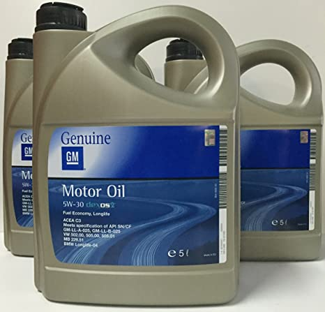 ACEITE MOTOR GM OPEL Oil 5w30 5 Litros PACK 15L=3x5 lts