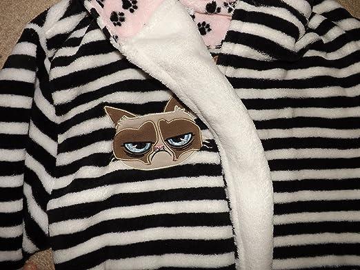 Primark Ladies Womens Grumpy Cat Dressing Gown Bathrobe Bath Robe