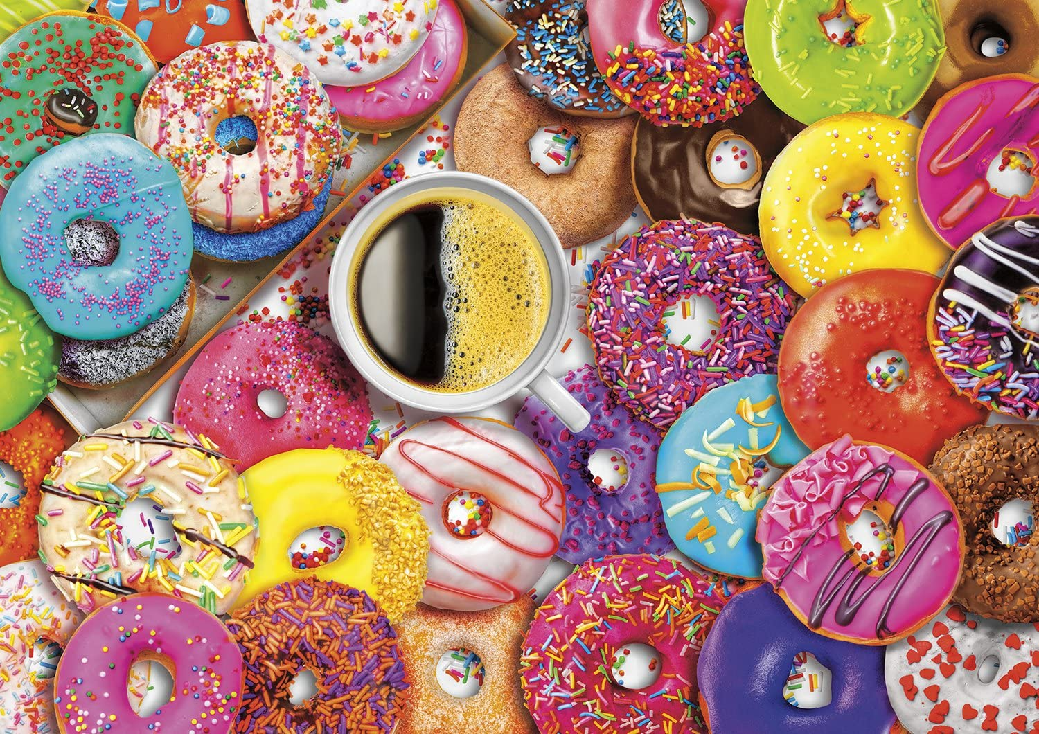 Buffalo Games - Vivid Collection - Aimee Stewart - Coffee and Donuts - 300 Large Piece Jigsaw Puzzle