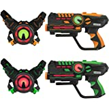 ArmoGear Infrared Laser Tag Guns Vests - Laser Battle Game - Pack Set of 2 - Infrared 0.9mW