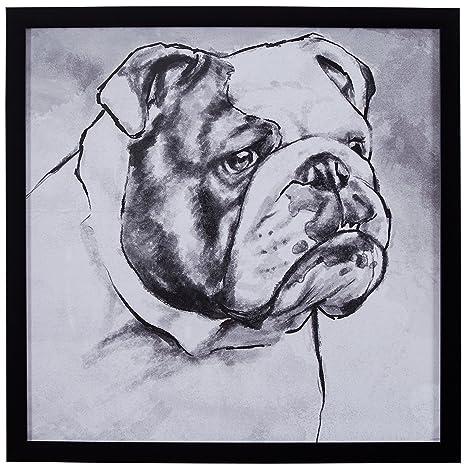Amazoncom Modern Black And White Print Of English Bulldog Black