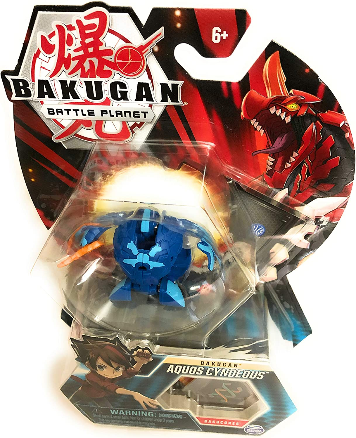 "Bakugan, Aquos Cyndeous, 2"" Tall Collectible Transforming Creature, for Ages 6 & Up"