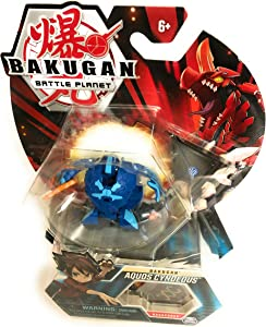 """Bakugan, Aquos Cyndeous, 2"""" Tall Collectible Transforming Creature, for Ages 6 & Up"""