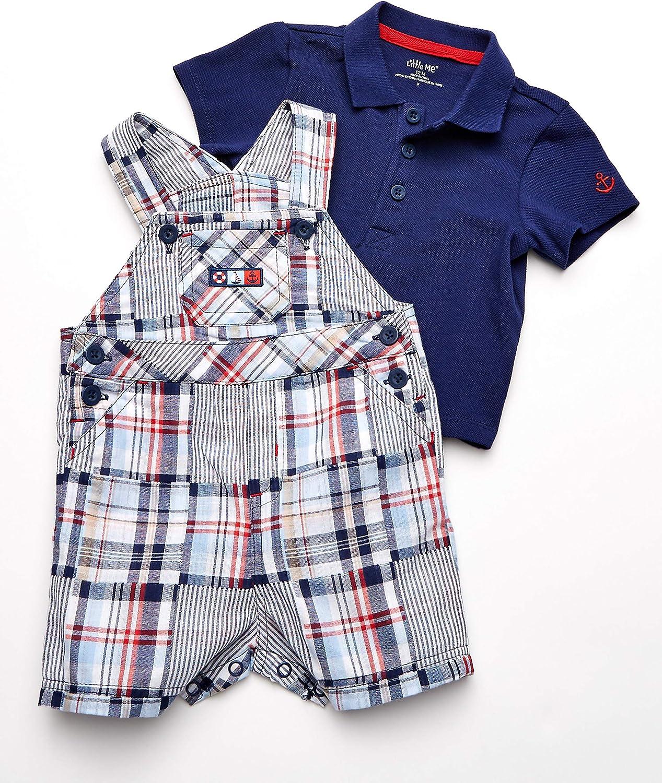 Little Me Baby Boys Shortall Set