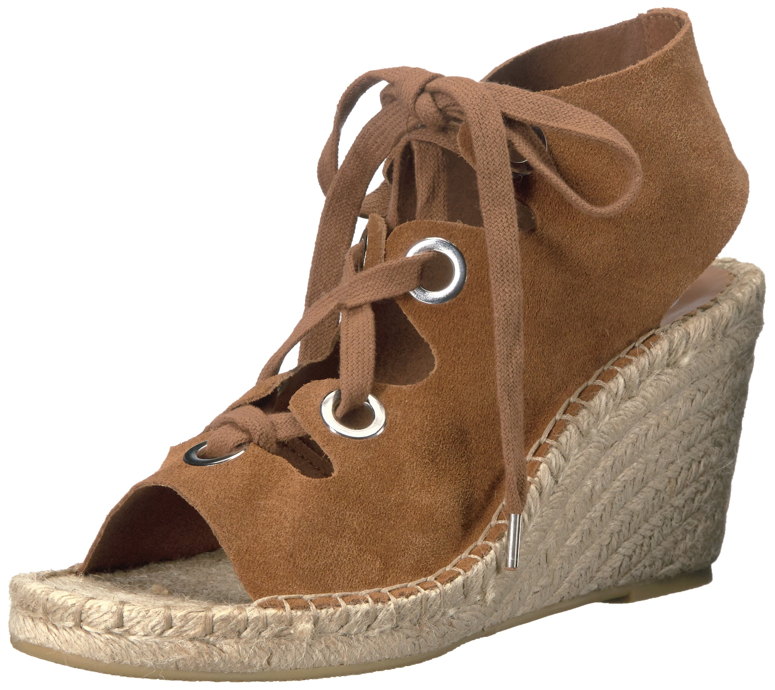 Ash Women's Patty Espadrille Wedge Sandal, Tan, 37 EU/7 M US
