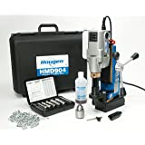 """Hougen HMD904S 115-Volt Swivel Base Magnetic Drill w/coolant bottle plus 1/2"""" drill chuck, adapter and 12002 rotabroach cutter kit"""