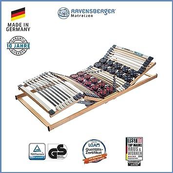 Ravensberger Matratzen® Duomed® Lattenrost   7-Zonen-Buche-Teller-Lattenrahmen   Teller und Leisten  elektrisch  MADE IN GERM
