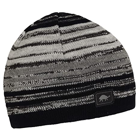Amazon.com  Turtle Fur Kids Reflective Illuminati Beanie Black ... 65337c524ee3