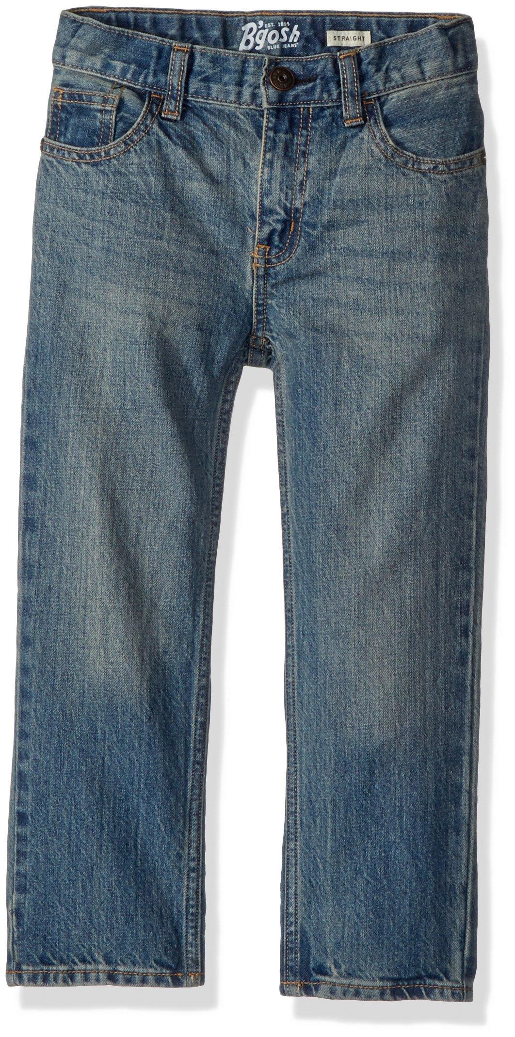 Osh Kosh Boys' Straight Jeans, Blue Copper Tone, 6R
