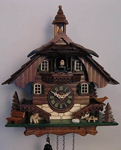 Engstler Quartz Cuckoo Clock Black Forest House EN 444 Q