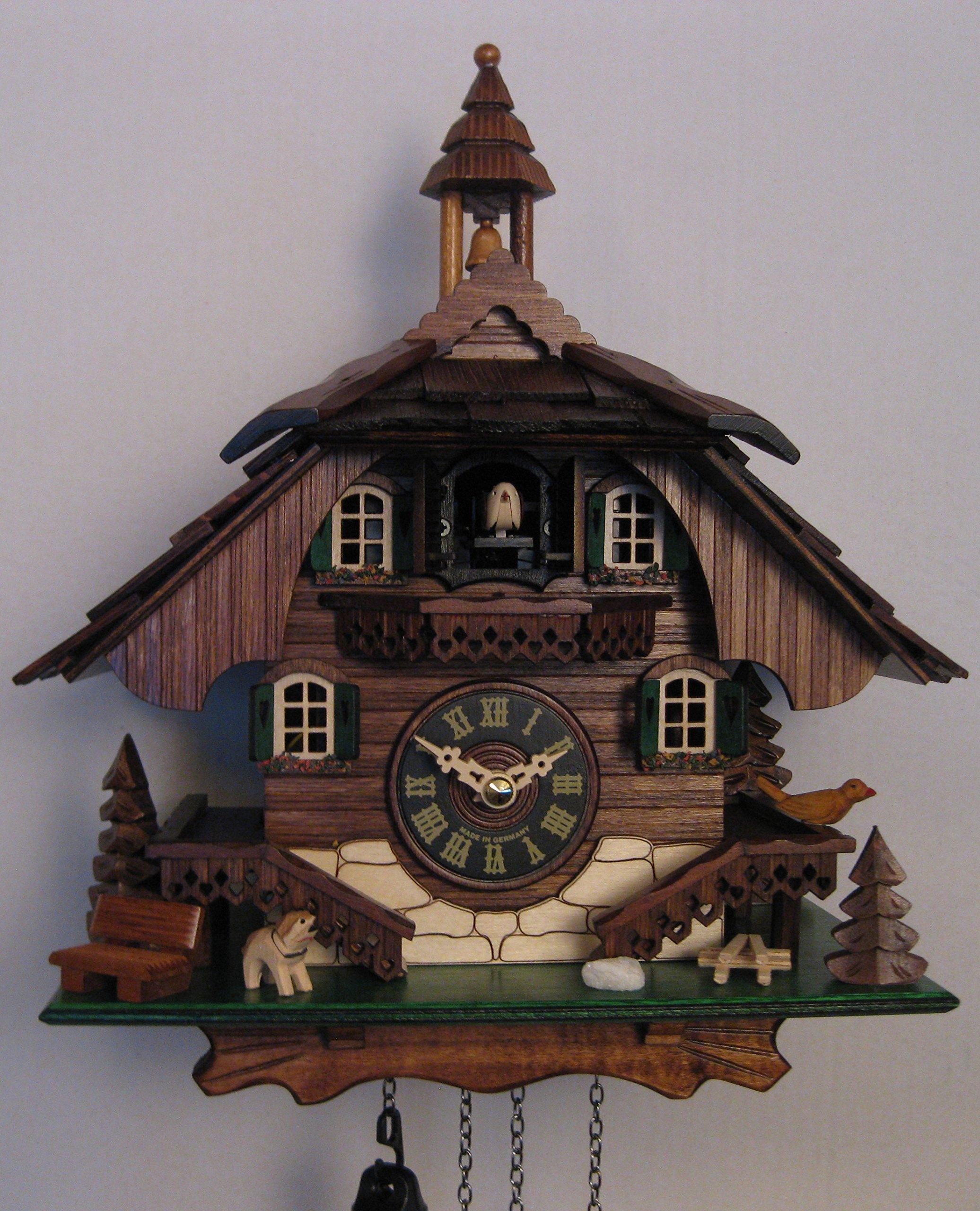 Quartz Cuckoo Clock Black forest house EN 444 Q