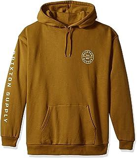 d8f89782bb Amazon.com: Brixton Men's Wheeler Relaxed Standard Fit Hood Fleece ...