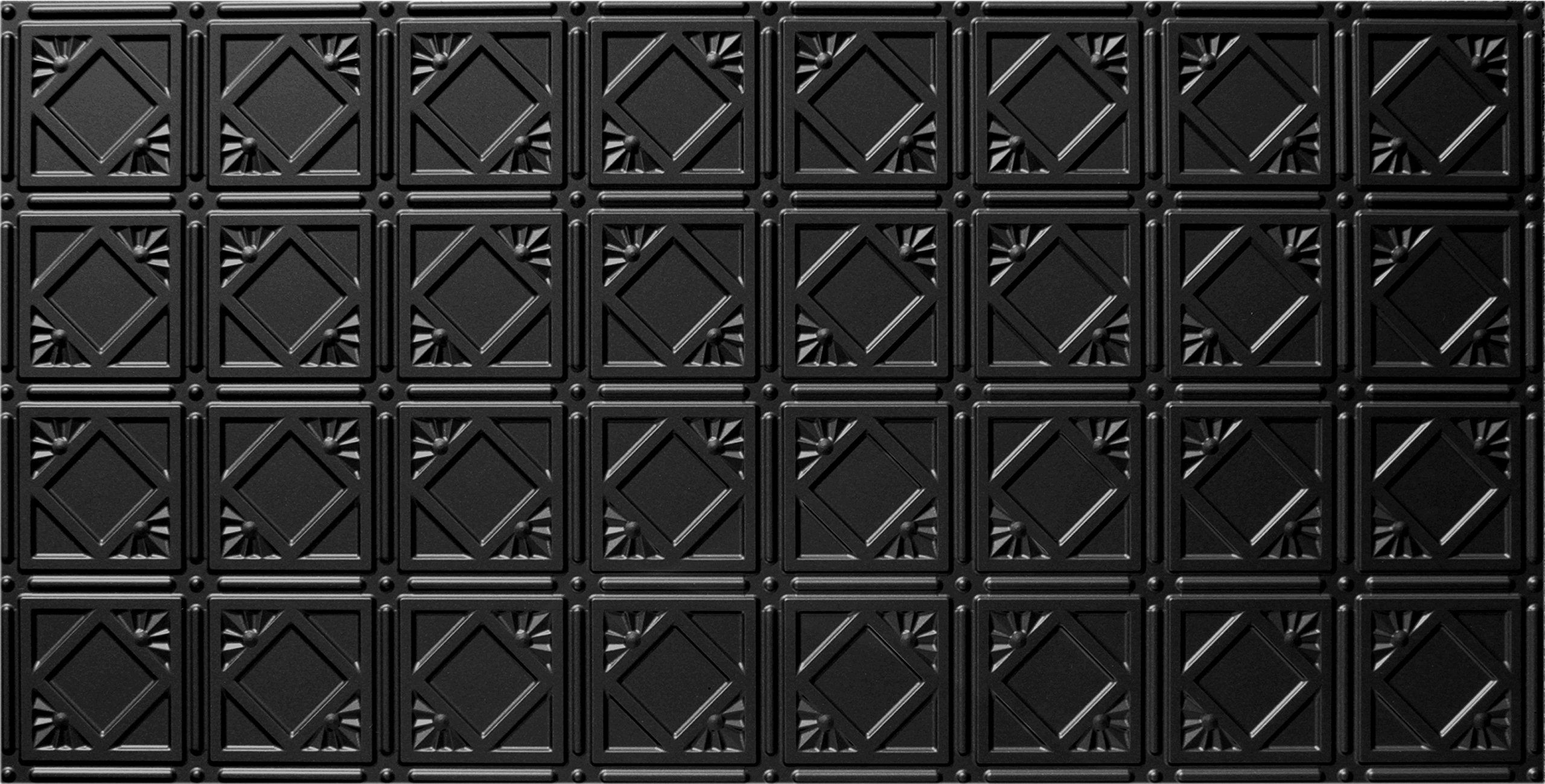Global Specialty Products Pattern No.207 Tin Style Panel, 2 by 4-Feet, Black